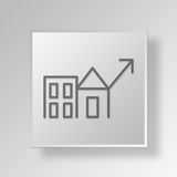 3D Economic Revitalization icon Business Concept Royalty Free Stock Image