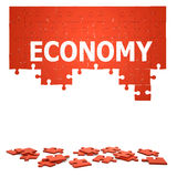 3d Economy jigsaw puzzle Stock Photo