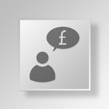 3D Economy speech Button Icon Concept Royalty Free Stock Photography
