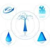 3d Ecosystem. An image of a 3d natural ecosystem Royalty Free Stock Images