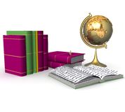Educational concept. 3d Educational concept on a white background Royalty Free Stock Photo