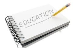 3d edukaci tekst na notepad z ołówkiem ilustracja wektor