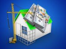 3D Eenvoudig Huis Royalty-vrije Stock Fotografie