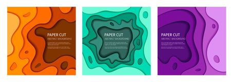 Colorful vector abstract background set vector illustration