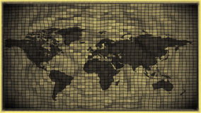 3d effect black and white antique world map Stock Photography