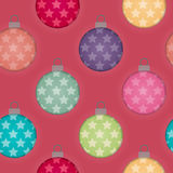 3d Effect Seamless Christmas Bauble Background Royalty Free Stock Image
