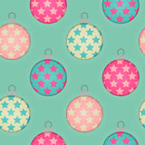 3d Effect Seamless Christmas Bauble Background Royalty Free Stock Photo
