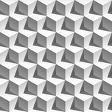 3D effect white cubes pattern Royalty Free Stock Image