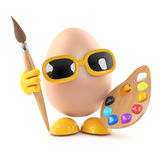 3d Egg artiste Royalty Free Stock Images