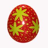 3D egg Illustration. Illustration of red 3D egg Stock Image