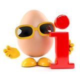 3d Egg information Stock Photography