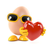 3d Egg love Stock Photos