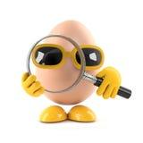 3d Egg magnifies Stock Photography
