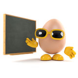 3d Egg teaches nutrition Royalty Free Stock Image