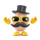 3d Egg villain Royalty Free Stock Images