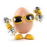 3d Egg work out Royalty Free Stock Photography