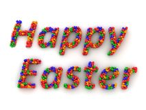 3D Eggs spelling Happy Easter Royalty Free Stock Photos