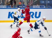 d Eghov (5) contra T Zhailauov (8) Fotos de Stock Royalty Free
