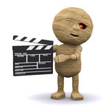 3d Egyptian Mummy makes a movie Stock Image