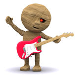3d Egyptian Mummy plays guitar Royalty Free Stock Images