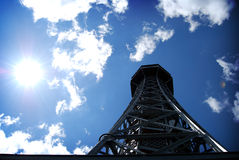 d'Eiffel del viaje de Praga imagen de archivo