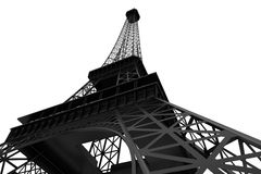 3d Eiffel tower Stock Images