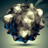 3D eigentijds stijl abstract voorwerp, cybernetische futuristisch voor Royalty-vrije Stock Foto's