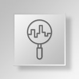 3D Einheimisches SEO Button Icon Concept Stockfotografie