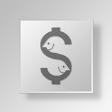 3D Either Way is Fine Button Icon Concept. 3D Symbol Gray Square Either Way is Fine Button Icon Concept Stock Photos