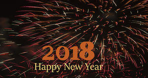 3D ejemplo - Año Nuevo 2018 imagen de archivo