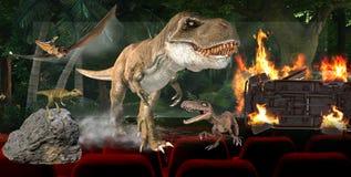 3D ejemplo, concepto digital de la tecnolog?a de la industria del cine 3D stock de ilustración