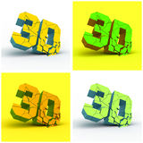 3D. Ejemplo del vector. Imagen de archivo