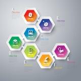 3D ejemplo digital abstracto Infographic Fotografía de archivo