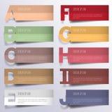 3D ejemplo digital abstracto Infographic stock de ilustración