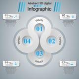 3D ejemplo digital abstracto Infographic Imágenes de archivo libres de regalías