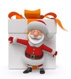 3d ejemplo Santa Claus con un regalo libre illustration