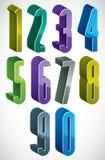 3d ekstra wysokie liczby ustawiają w błękitnych i zielonych kolorach robić z rou ilustracji