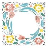 D? el ejemplo exhausto para el d?a del ` s de la madre Concepto del vector con las flores en el fondo blanco - El fichero del vec ilustración del vector