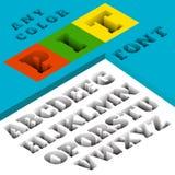 3D el piso Pit Font encendido escribe el fondo ilustración del vector