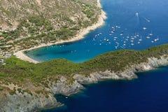 D'Elba-Fetovaia van Isola strand Stock Foto