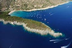 D'Elba-Fetovaia van Isola strand Stock Foto's