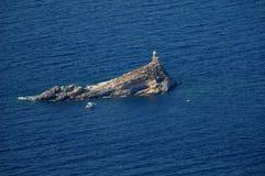 D'Elba-Lo Scoglietto van Isola klippen Stock Foto's