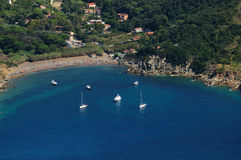 D'Elba-Nisportino van Isola strand Royalty-vrije Stock Afbeelding