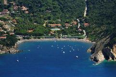 D'Elba-Nisporto van Isola strand Stock Fotografie