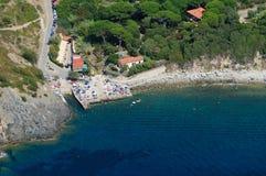 D'Elba-Patresi van Isola strand Royalty-vrije Stock Foto's