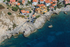 D'Elba-Pomonte van Isola klippen Stock Foto