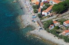 D'Elba-Pomonte van Isola strand Royalty-vrije Stock Afbeeldingen
