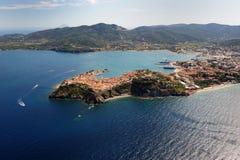 D'Elba-Portoferraio van Isola haven Stock Foto's