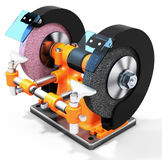 3d electrical grinding machine, bench grinder Stock Image