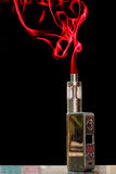 3D electronic cigarette & smoke Stock Images